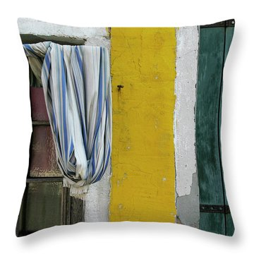 Primary Colours Of Burano Throw Pillow