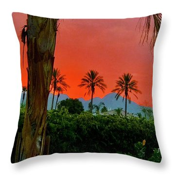 Primary Desert Sunset Throw Pillow by Jack Eadon