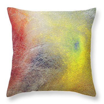 Primary Maelstrom Throw Pillow by Constance Krejci