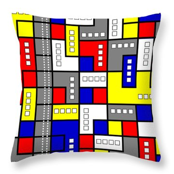 Primary Passion Throw Pillow by Tara Hutton