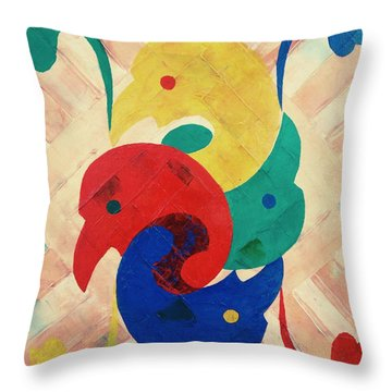 Primary Plus Throw Pillow