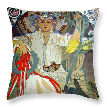 Throw Pillow featuring the photograph Primavera 1914 by Padre Art