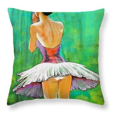 Primera Llamada Throw Pillow by Thelma Zambrano