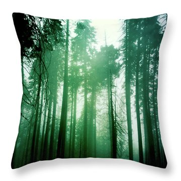 Primeval Forest Throw Pillow