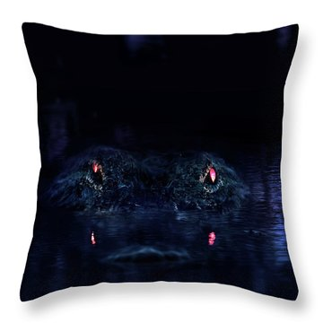 Primeval Throw Pillow by Mark Andrew Thomas