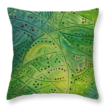 Primitive Abstract 2 By Rafi Talby Throw Pillow by Rafi Talby
