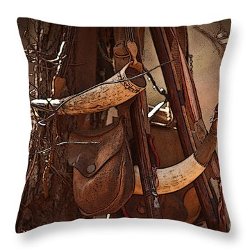 Primitive Arsenal Throw Pillow