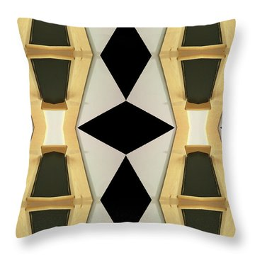 Primitive Graphic Structure Throw Pillow