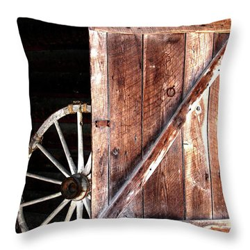 Throw Pillow featuring the digital art Primitive by Kim Henderson