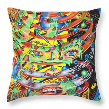 Primordial Inception Of Life At Daybreak Throw Pillow