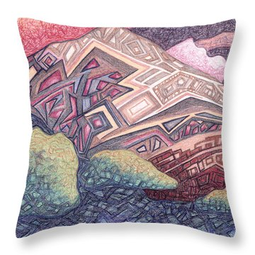 Primordial Memory Throw Pillow by Dale Beckman