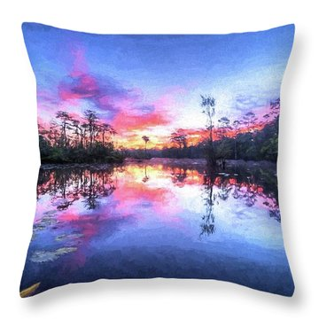 Throw Pillow featuring the photograph Primordial Sunrise by JC Findley