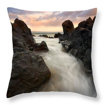 Primordial Tides Throw Pillow by Mike  Dawson