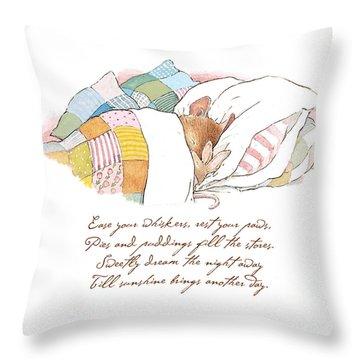 Primrose Goes To Sleep Throw Pillow