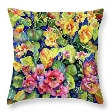 Primrose Patch I Throw Pillow