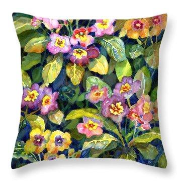 Primrose Patch II Throw Pillow