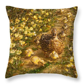 Throw Pillow featuring the painting Primrose Path Il by Doug Kreuger