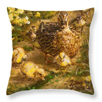 Throw Pillow featuring the painting Primrose Path Ill by Doug Kreuger