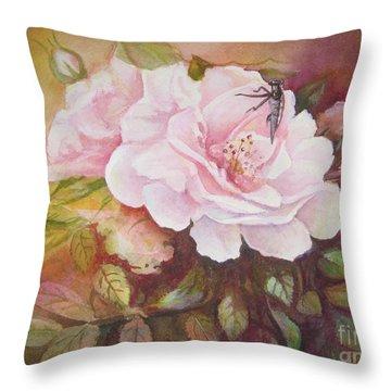 Primrose Throw Pillow by Patricia Schneider Mitchell