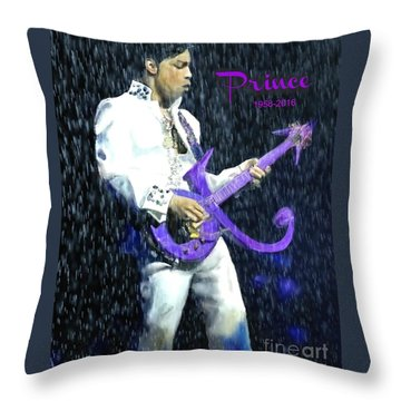 Prince 1958 - 2016 Throw Pillow by Vannetta Ferguson