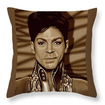 Prince 2 Gold Throw Pillow