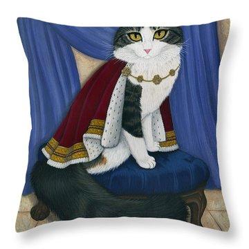 Prince Anakin The Two Legged Cat - Regal Royal Cat Throw Pillow