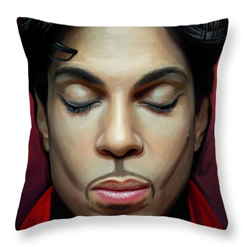 Throw Pillow featuring the painting Prince Artwork 2 by Sheraz A