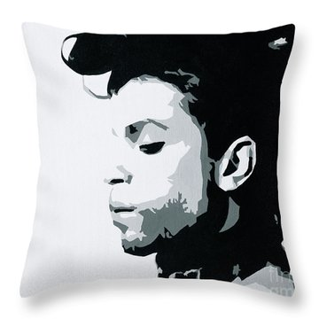 Prince Throw Pillow by Ashley Price