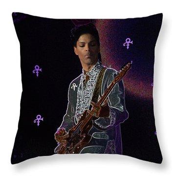 Prince At Coachella Throw Pillow