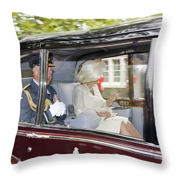 Prince Charles And Camilla Throw Pillow
