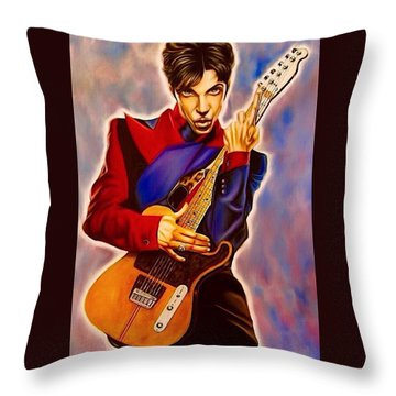 Prince Throw Pillow by Darryl Matthews