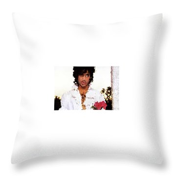 Prince Distorted Throw Pillow by Val Oconnor