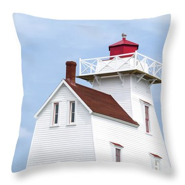 Prince Edward Island Lighthouse Poster Throw Pillow by Edward Fielding