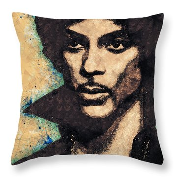 Prince Illustration Throw Pillow