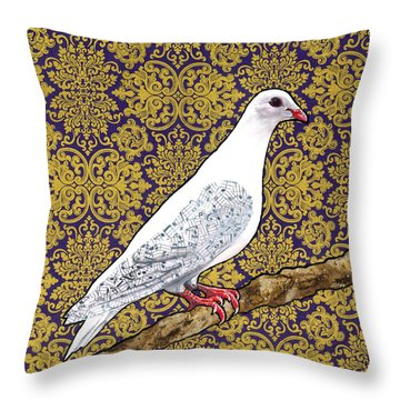 Ode To A Singer Throw Pillow