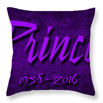 Prince Memorial Throw Pillow
