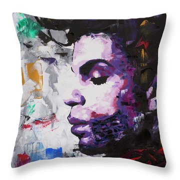 Prince Musician II Throw Pillow
