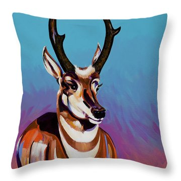 Throw Pillow featuring the painting Prince Of The Prairies by Bob Coonts
