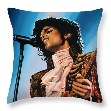 Prince Painting Throw Pillow by Paul Meijering