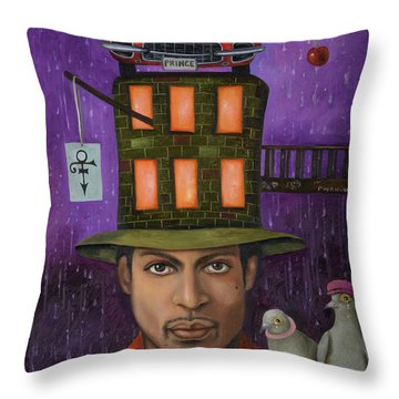 Prince Pro Image Throw Pillow by Leah Saulnier The Painting Maniac