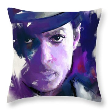 Throw Pillow featuring the painting Prince by Richard Day