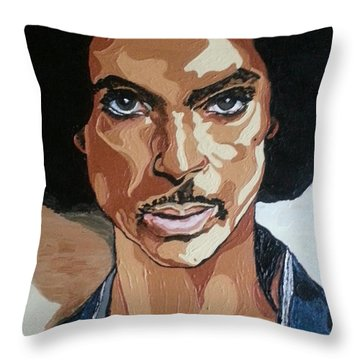 Prince Rogers Nelson Throw Pillow