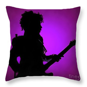 Prince Rogers Nelson Throw Pillow by Sergey Lukashin
