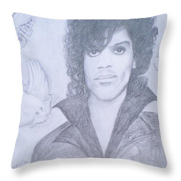 Prince When Doves Cry Throw Pillow by Christy Saunders Church