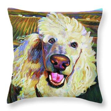 Princely Poodle Throw Pillow
