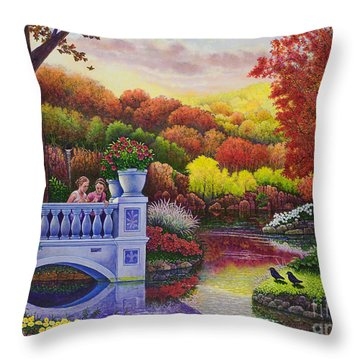 Princess Gardens Throw Pillow