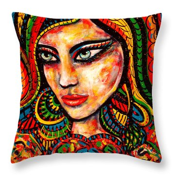 Princess Of Desire Throw Pillow by Natalie Holland