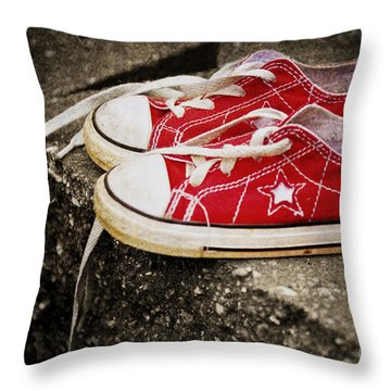 Princess Shoes Throw Pillow by Scott Pellegrin