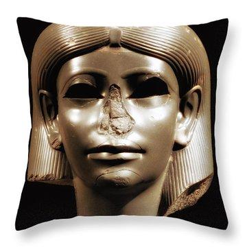 Princess Sphinx Throw Pillow by Nigel Fletcher-Jones