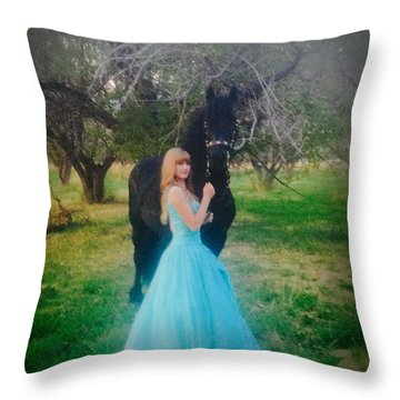 Princess' Stallion Throw Pillow